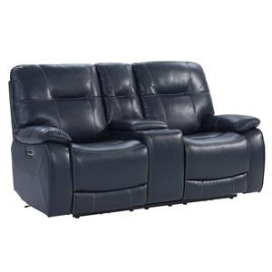 Power Recling Console Loveseat