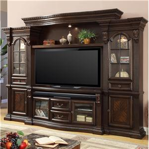 Entertainment Center with 6 Doors and Power Center