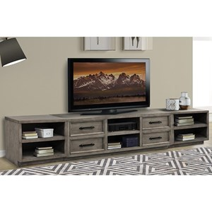 Industrial Entertainment Center with Wire Management