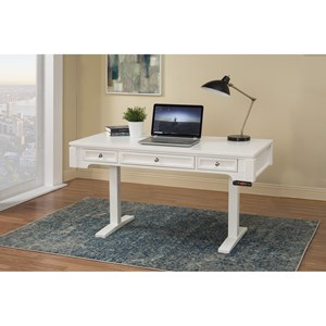 57in. Power Lift Desk with Power Center