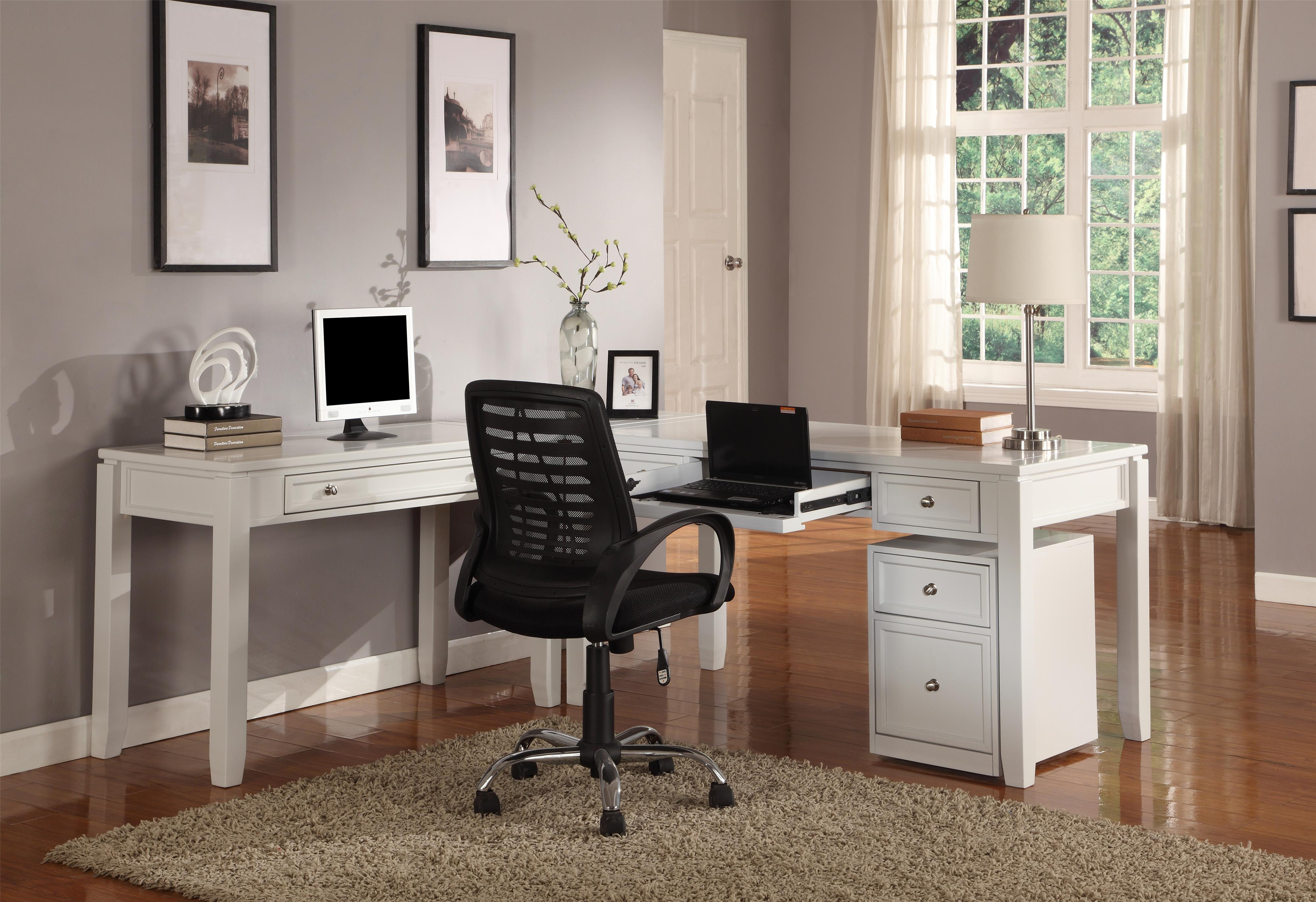 Boca Three-Piece L-Shaped Desk by Parker House at Johnny Janosik
