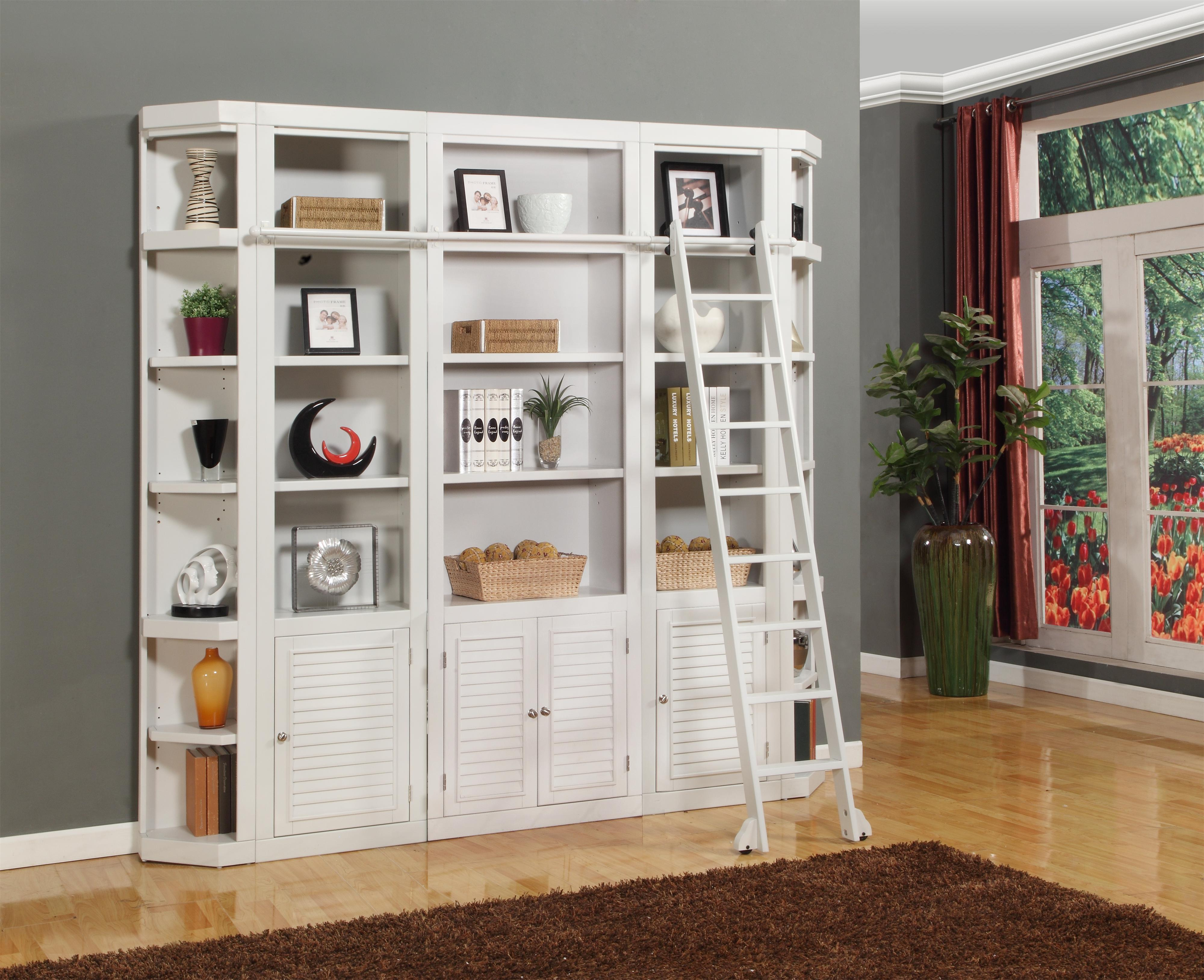 Boca Five-Piece Library Wall Unit by Parker House at Suburban Furniture