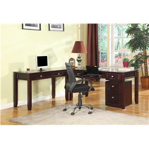 Parker House Boston Three-Piece L-Shaped Desk