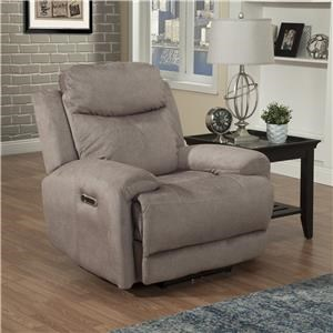 Power Reclining Chair with USB Port, Power Headrest, and Gel Foam Cushion