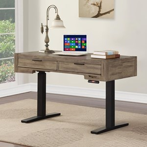 "Contemporary 48"" Power Lift Desk with Digital Controls"