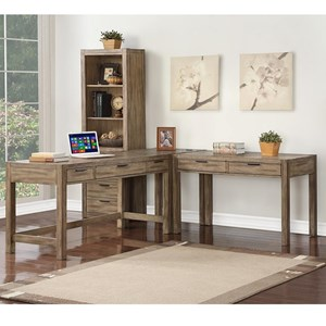 Contemporary 3 Pc L-Shaped Desk with 5 Drawers
