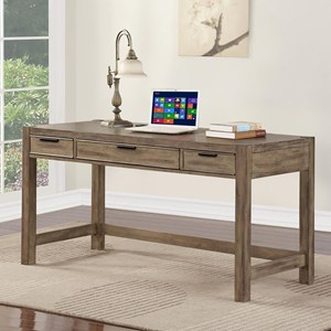 "Contemporary 60"" Table Desk with 3 Drawers and Cord Access Hole"