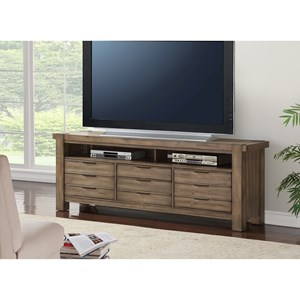 "Contemporary 76"" TV Console with 4 Drawers and Wire Access Holes"