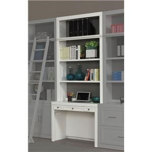 Two Piece 40 inch Library Desk and Hutch