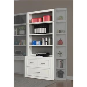 Two Piece 40 inch. Lateral File and Hutch Set