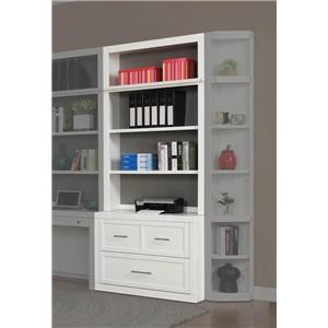 40 Inch Lateral File and Hutch