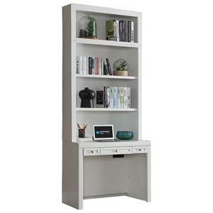 Cottage Desk and Hutch with USB Port and Adjustable Shelving