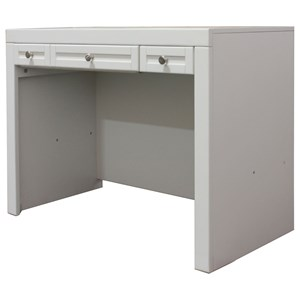 3 Drawer Library Desk with Built-In Outlet