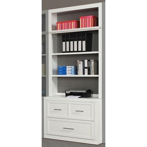 Cottage Lateral File and Hutch with Adjustable Shelving