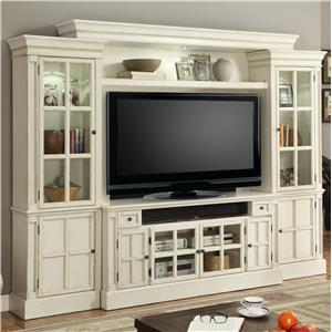 "62"" Console Entertainment Wall with Eight Doors"