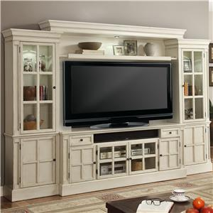 "72"" Console Entertainment Wall with Eight Doors"