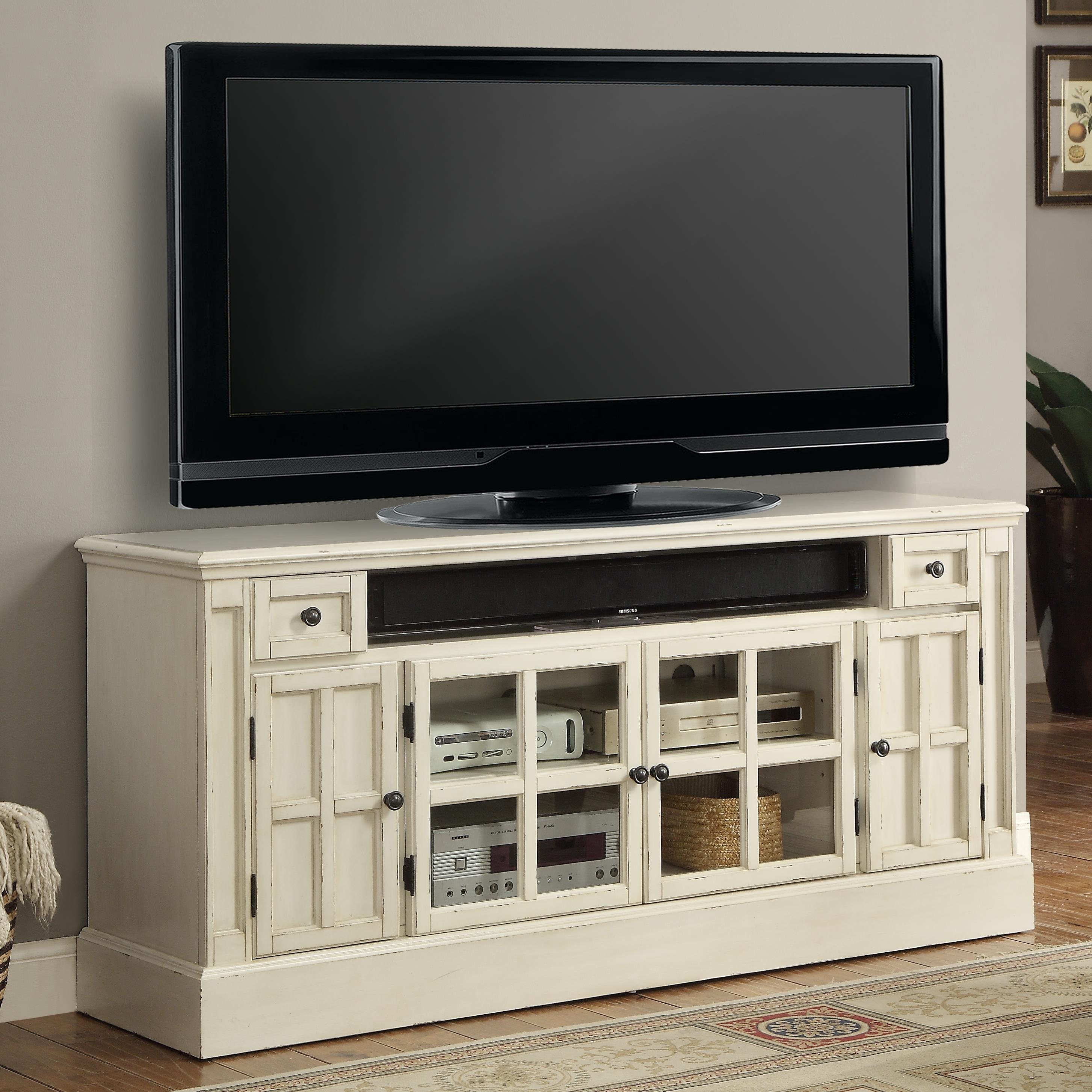 """Hathaway Charlotte  62"""" TV Console with Power Center by Parker House at Morris Home"""