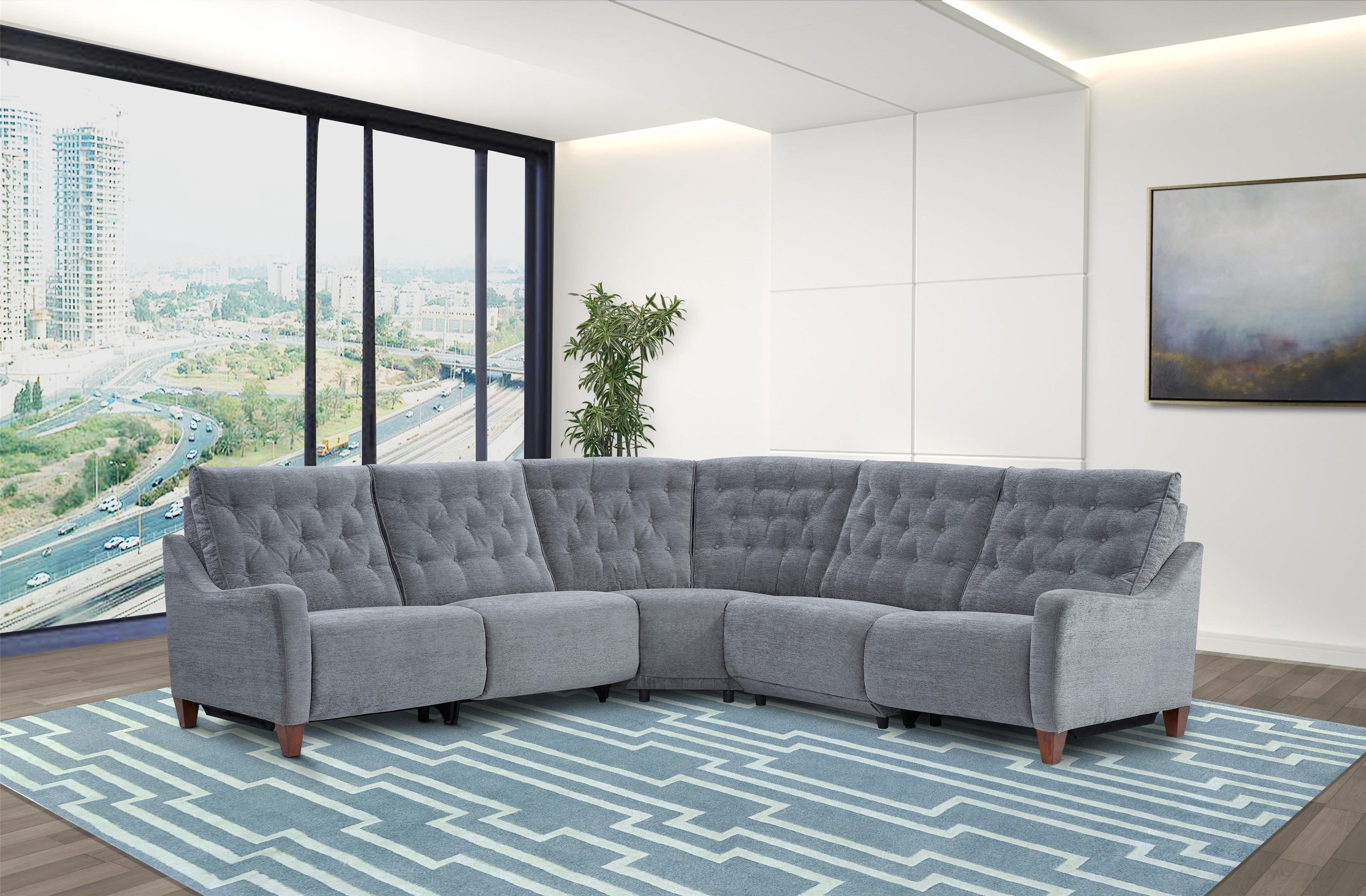 Chelsea 5-Piece Power Reclining Sofa Sectional by Parker House at Beck's Furniture