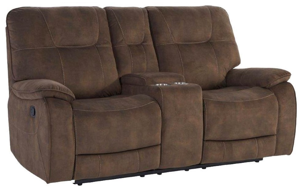Cooper SHADOW BROWN Manual Console Loveseat by Parker House at Johnny Janosik