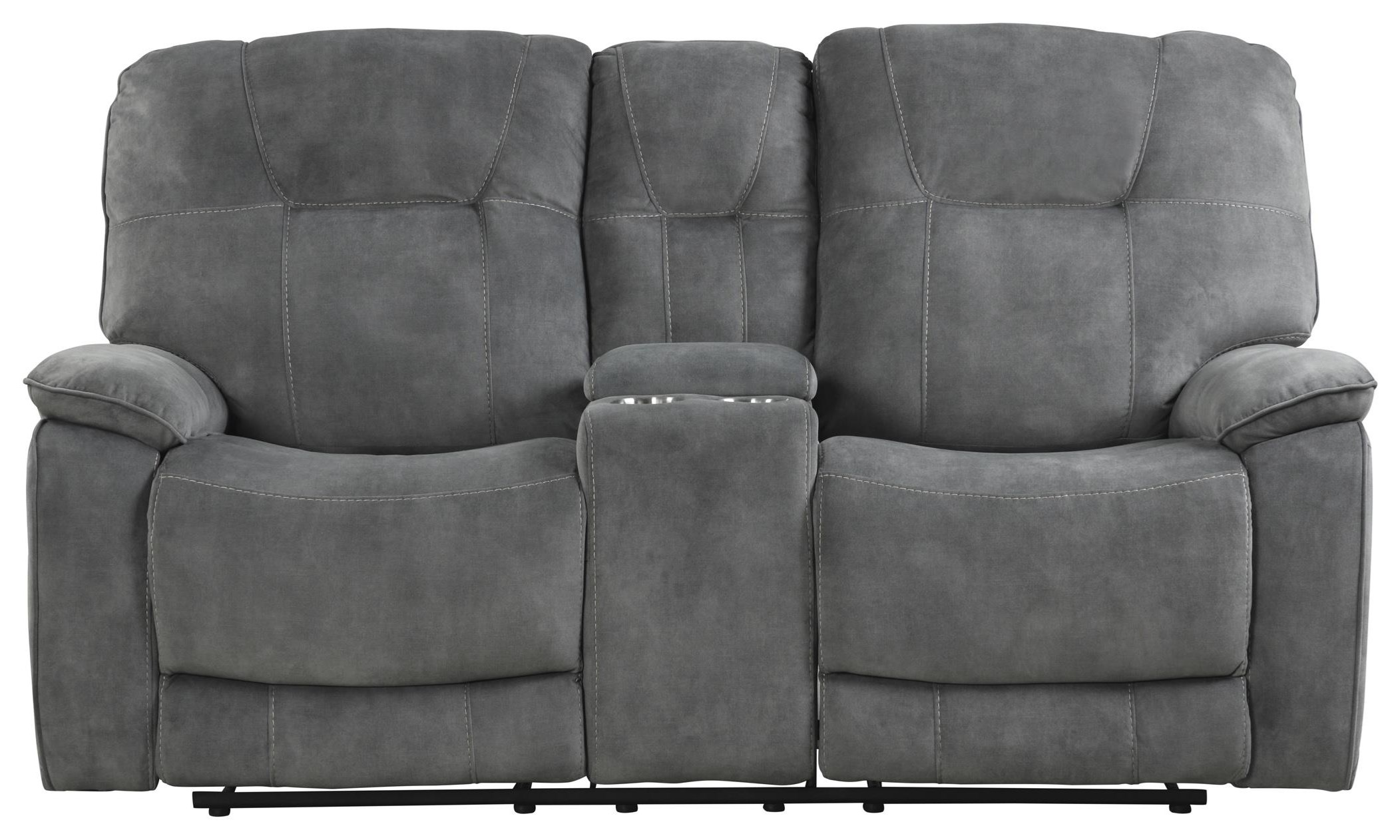 Cooper SHADOW GREY Manual Console Loveseat by Parker House at Johnny Janosik