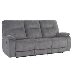 SHADOW GREY Manual Triple Reclining Sofa