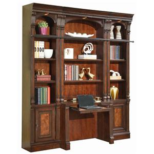 Parker House Corsica Four-Piece Library Wall with Desk