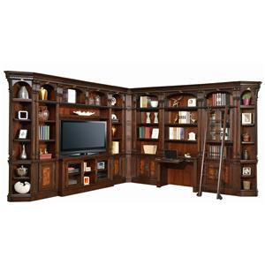 "Parker House Corsica Library Wall with Desk and 60"" Console"