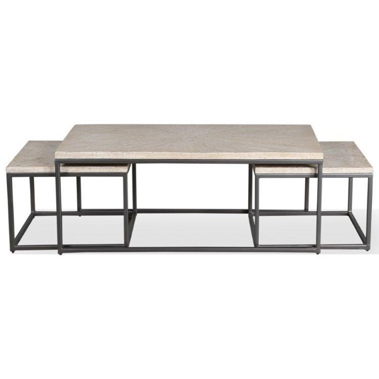 Crossings Monaco Rectangular Nesting Cocktail Table by Parker House at Zak's Home
