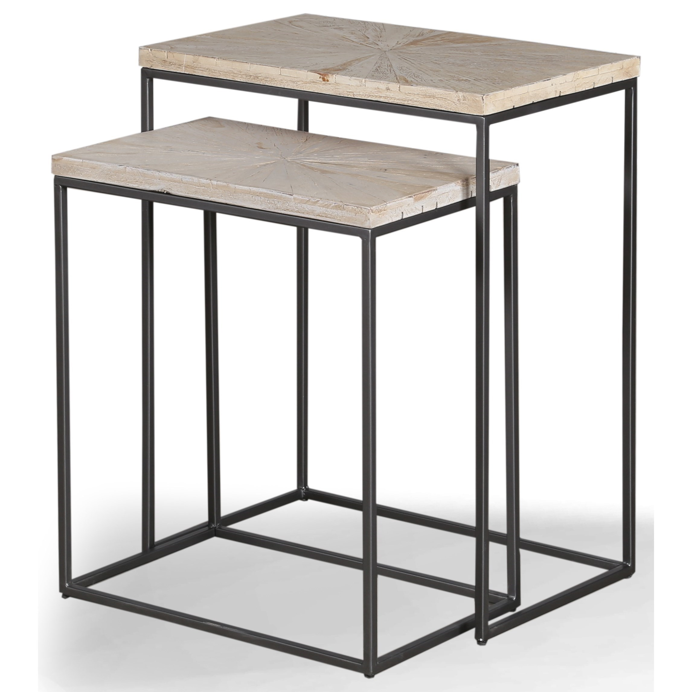 Crossings Monaco Chairside Nesting Table by Parker House at Zak's Home