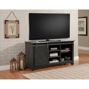 Transitional 63 Inch TV Console with Sliding Door