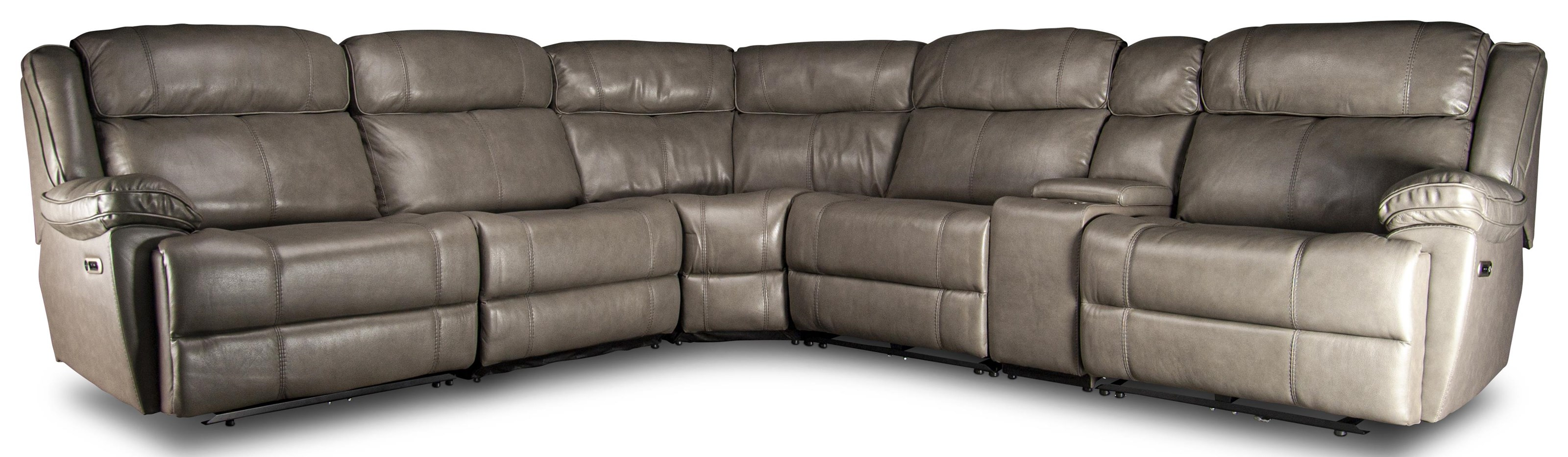 Elias Elias Power Leather Match Sectional by Parker House at Morris Home