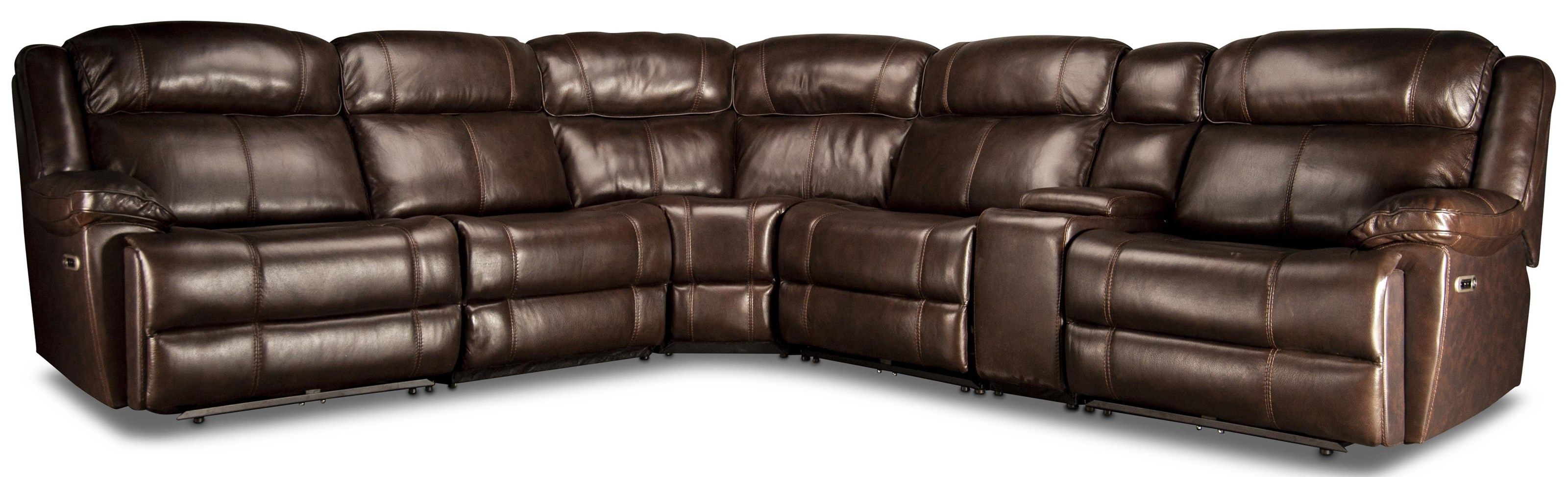 Elias Elias Leather Match Power Sectional Sofa by Parker House at Morris Home