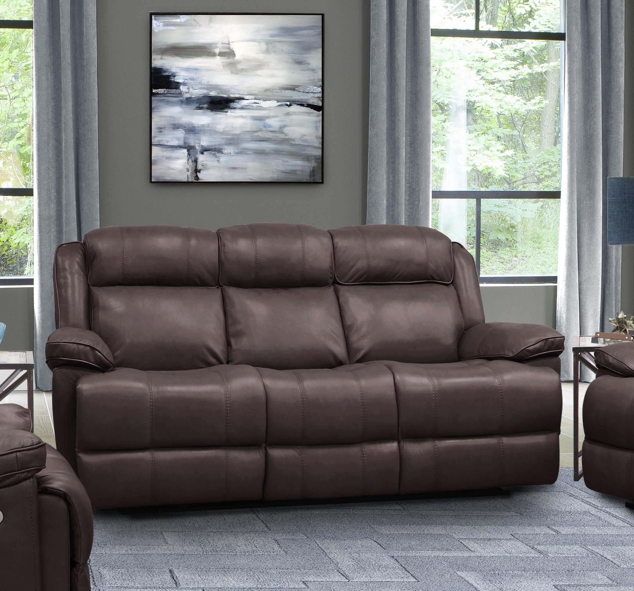Elias Elias Top Grain Leather Match Power Sofa by Parker House at Morris Home