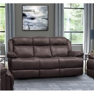 Elias Top Grain Leather Match Power Sofa