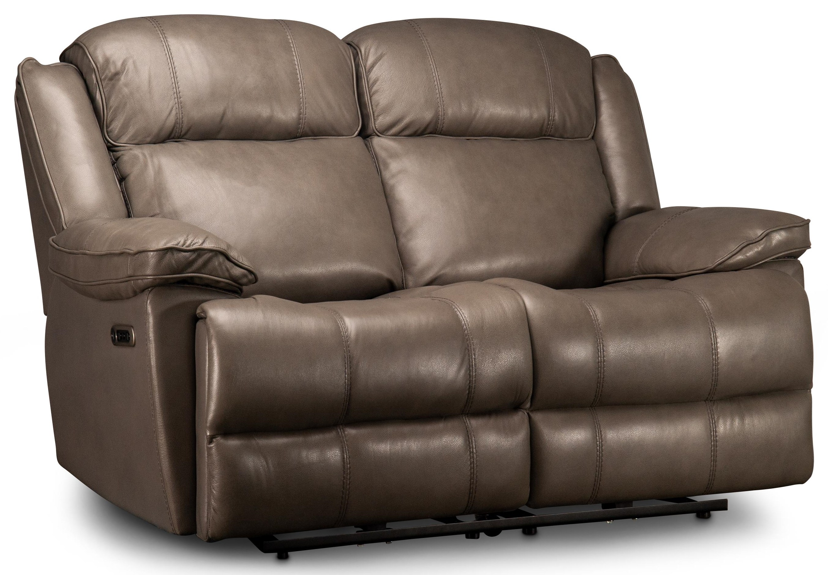 Elias Elias Leather Match Power Loveseat by Parker House at Morris Home
