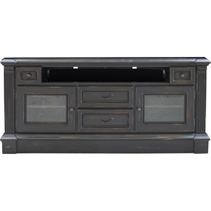 "65"" TV Console with Carved Detailing"