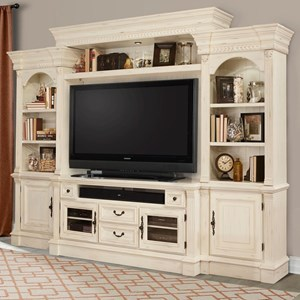4 Piece Entertainment Wall with Pier Cabinets