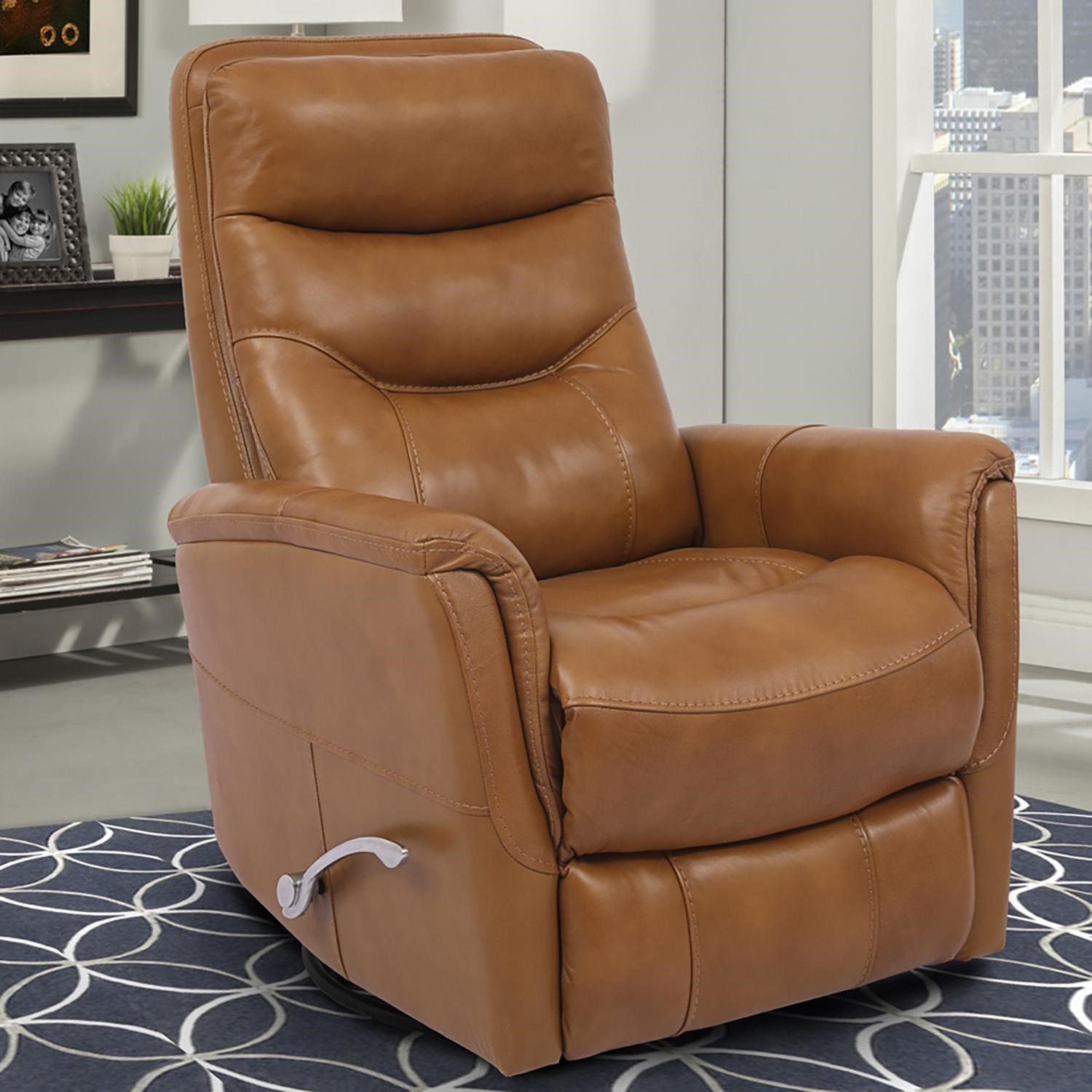 Gemini Leather Swivel Glider Recliner by Parker House at Beck's Furniture