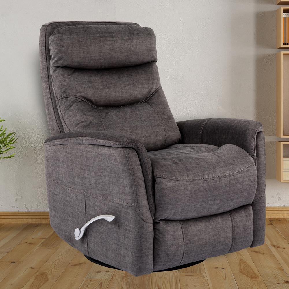 Gemini Titanium Swivel Glider Recliner by Parker House at Beck's Furniture