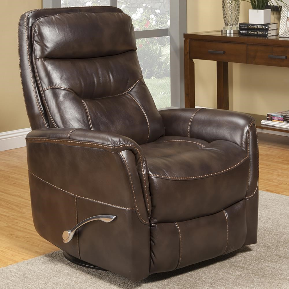 Gemini Truffle Swivel Glider Recliner by Parker House at Beck's Furniture