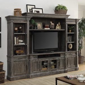 Relaxed Vintage 4 Piece Entertainment Wall Unit