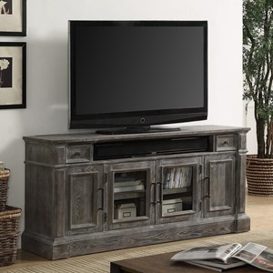 """Relaxed Vintage 65"""" TV Console with Power Center"""