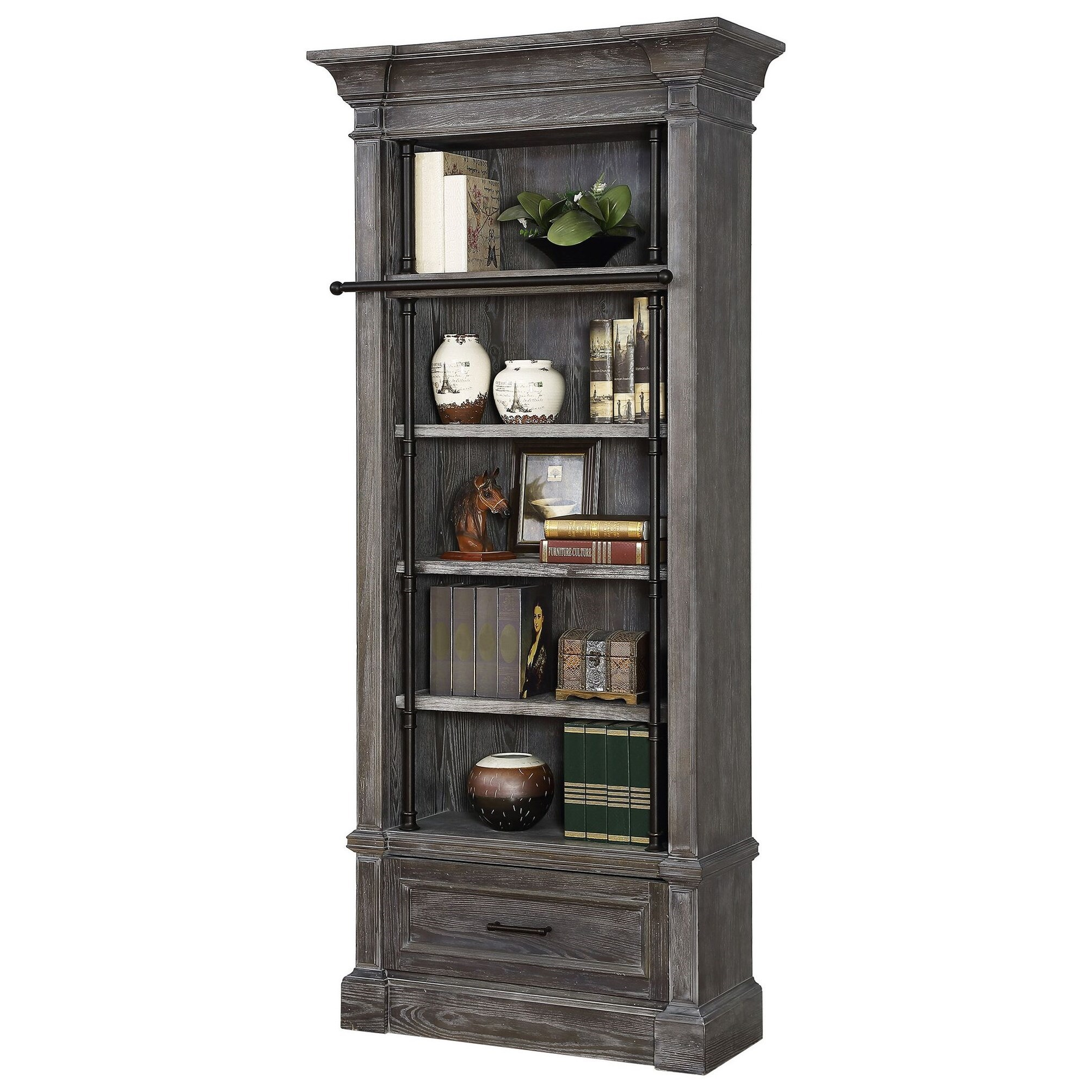 Gramercy Park Museum Bookcase by Parker House at Zak's Home