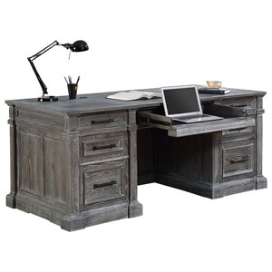 Relaxed Vintage Double Pedestal Executive Desk