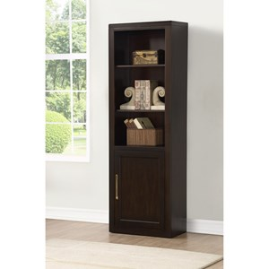 Three Shelf Bookcase with Door
