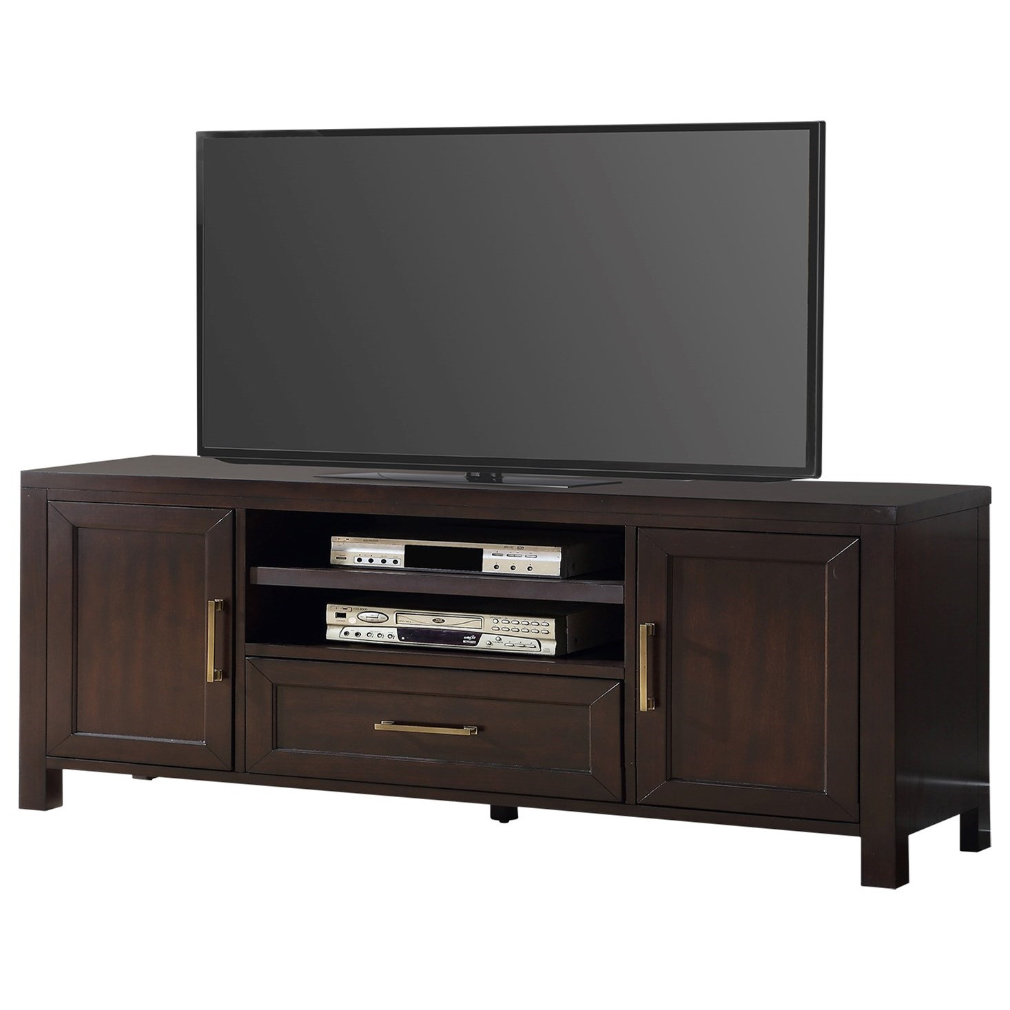 """Greenwich 76"""" TV Console by Parker House at Pilgrim Furniture City"""