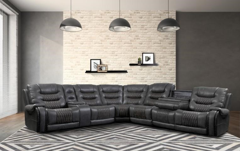 Gypsy Gypsy Power Sectional Sofa by Parker House at Morris Home