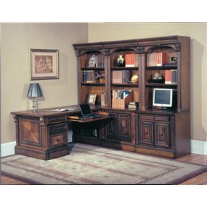 Parker House Huntington 9-Piece Library Wall and Peninsula Desk