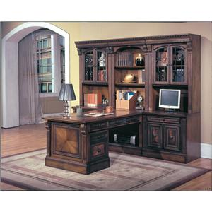 Parker House Huntington Library Wall and Peninsula Desk w/File