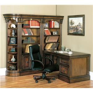 Corner Bookcase Wall and Desk Office Unit